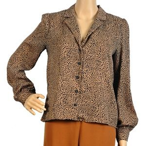 Re:named Leopard Print Blouse